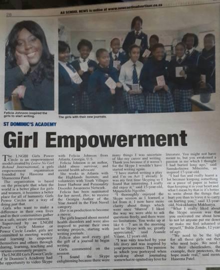 Felicia Johnson Speaking-article